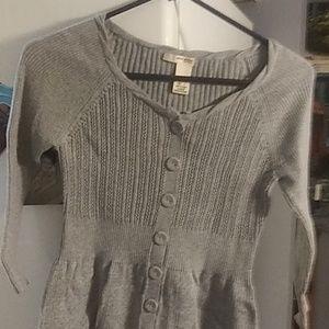 Women grey stretch sweater